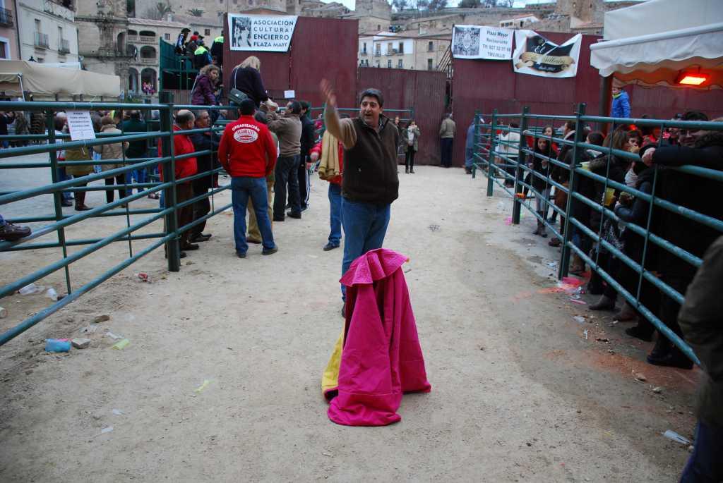 Encierros y capeas en la plaza Mayor. 2015